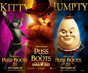 Puzzle de Cartel de la película El Gato con Botas