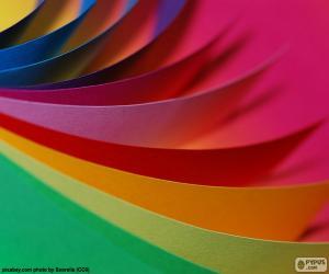 Puzzle de Cartulinas de colores