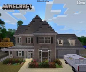 Puzzle de Casa de Minecraft