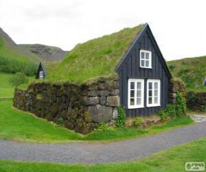 Puzzle de Casa vikinga, Islandia