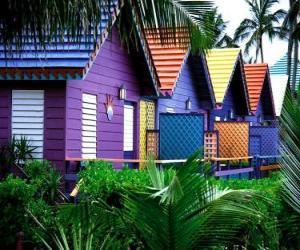 Puzzle de Casas, de colores, Bahamas