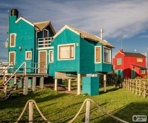 Juegos de puzzles de casas - Casas de madera santa clara ...