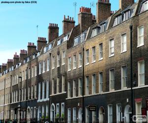 Puzzle de Casas típicas de Londres