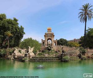 Puzzle de Cascada del Parque de la Ciudadela, Barcelona
