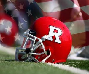 Puzzle de Casco de fútbol americano (Rutgers Athletics)