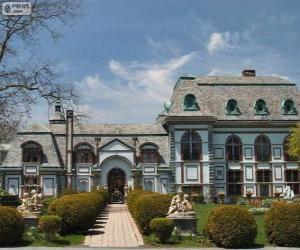 Puzzle de Castillo Belcourt, Newport, Estados Unidos