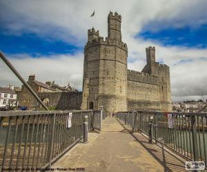 Puzzle de Castillo de Caernarfon, Gales