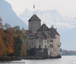 Puzzle de Castillo de Chillon, Suiza