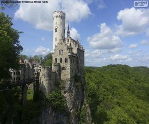 Puzzle de Castillo de Lichtenstein, Alemania
