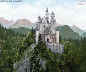 Puzzle de Castillo de Neuschwansteinen, Alemania