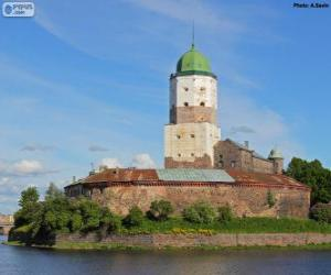 Puzzle de Castillo de Vyborg, Vyborg, Rusia