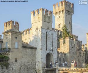 Puzzle de Castillo Scaligero, Italia