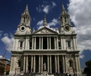 Puzzle de Catedral de Saint Paul o San Pablo de Londres, Gran Bretaña