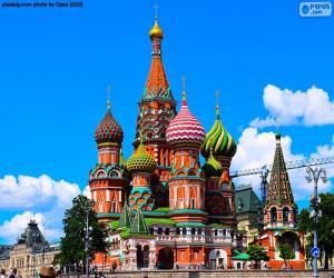 Puzzle de Catedral de San Basilio, Moscú, Rusia