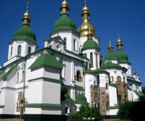 Puzzle de Catedral de Santa Sofía, Kiev, Ucrania.