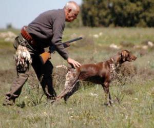 Puzzle de Cazador cazando junto a su perro