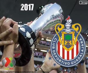 Puzzle de C.D. Guadalajara, campeón Clausura 2017
