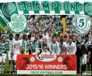 Puzzle de Celtic FC campeón 2015-2016