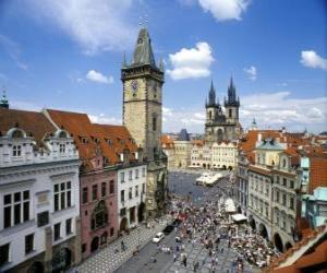 Puzzle de Centro histórico de Praga, República Checa.