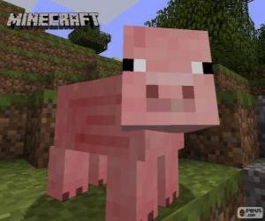 Puzzle de Cerdo de Minecraft