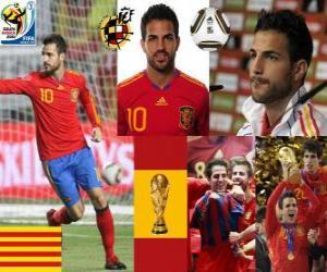 Puzzle de Cesc Fàbregas (Es el futuro del Barça) mediocampista Selección Española