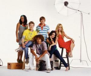 Puzzle de Chad (Corbin Bleu), Taylor (Monique Coleman), Gabriella Montez (Vanessa Hudgens), Troy Bolton (Zac Efron), Sharpay Evans (Ashley Tisdale), Ryan Evans (Lucas Grabeel)