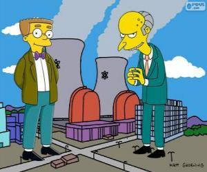 Puzzle de Charles Montgomery Burns y Waylon Smithers, el dueño de la central nuclear de Springfield y su asistente
