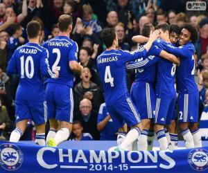Puzzle de Chelsea FC campeón 2014-15
