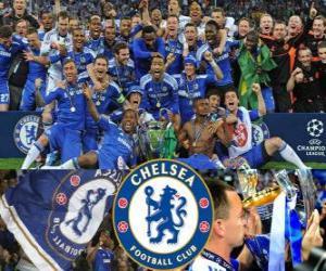 Puzzle de Chelsea FC, campeón de la Liga de Campeones de la UEFA 2011-2012
