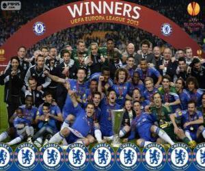 Puzzle de Chelsea FC, campeón UEFA Europa League 2012-2013