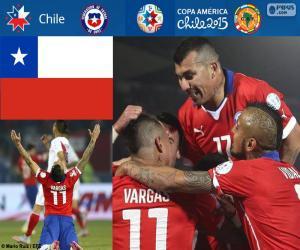 Puzzle de CHI finalista CopaAmérica15