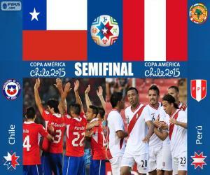 Puzzle de CHI - PER, Copa América 15