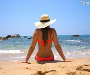 Puzzle de Chica en la playa