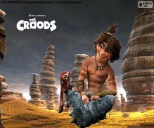 Puzzle de Chico, un ingenioso adolescente que muestra a los Croods un nuevo mundo