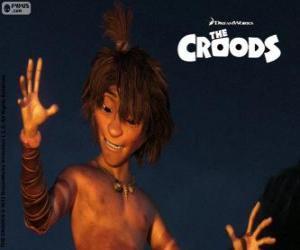 Puzzle de Chico, un muchacho cavernícola nómada que usa la inteligencia en lugar de la fuerza