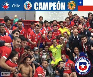 Puzzle de Chile campeón CopaAmérica15