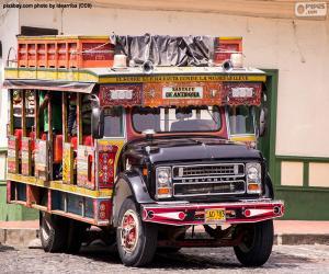 Puzzle de Chiva, vehículo