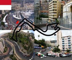 Puzzle de Circuito de Montecarlo - Mónaco -