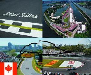 Puzzle de Circuito Gilles Villeneuve - Canadá -