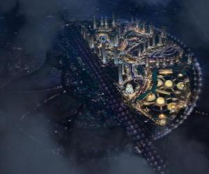 Puzzle de Ciudad en el espacio intergaláctico
