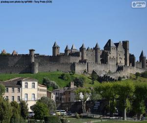 Puzzle de Ciudad fortificada de Carcasona, Francia