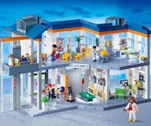 Puzzle de Clínica Playmobil
