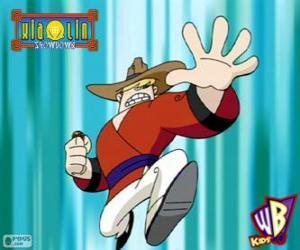 Puzzle de Clay Bailey, el guerrero Xiaolin del Dragón de Tierra, un cowboy de Texas