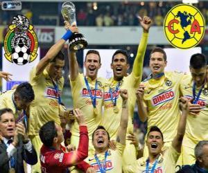 Puzzle de Club América, campeón Apertura México 2014