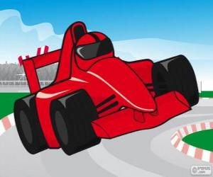 Puzzle de Coche de carreras de F1 rojo