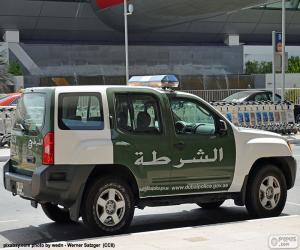 Puzzle de Coche de policía de Dubai