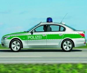 Puzzle de coche de policía - BMW E60 -