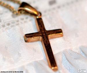 Puzzle de Colgante cruz de oro