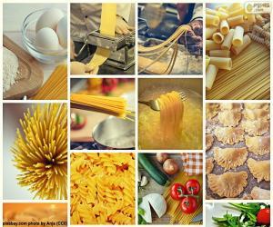 Puzzle de Collage de pasta