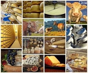 Puzzle de Collage del queso